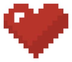 petit cœur pixélisé