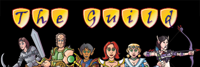 le logo de the guild la serie geek mais cette fois en mode dessin