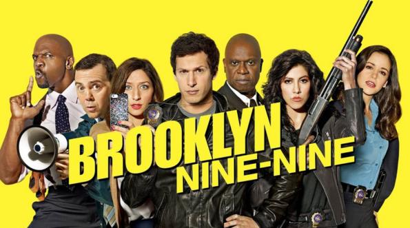 toute l'équipe du brooklin nine-ninie avec beaucoup de diversité, un gars qui a l'air fendard et une nana super hot qui arme un fusil à pompe… ok ça sonne pas série geek mais c'est une tuerie