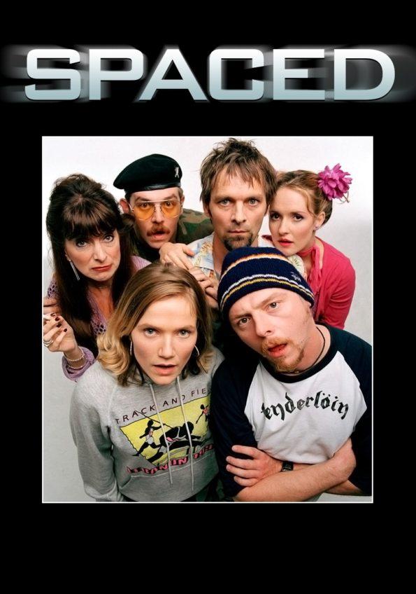 la bande des perso chelou da la série geek Spaced