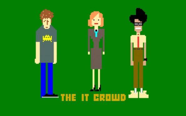 les héros de The ITcrowd en mode pixel art Ça c'est de la série geek !